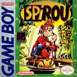 Box cover for Spirou on the Nintendo Game Boy.
