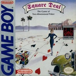 Box cover for Square Deal: The Game of Two Dimensional Poker on the Nintendo Game Boy.