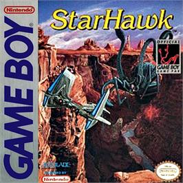 Box cover for StarHawk on the Nintendo Game Boy.