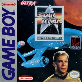 Box cover for Star Trek 25th Anniversary on the Nintendo Game Boy.