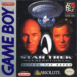 Box cover for Star Trek Generations - Beyond the Nexus on the Nintendo Game Boy.