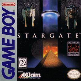 Box cover for Stargate on the Nintendo Game Boy.