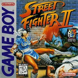 Box cover for Street Fighter II - The World Warrior on the Nintendo Game Boy.