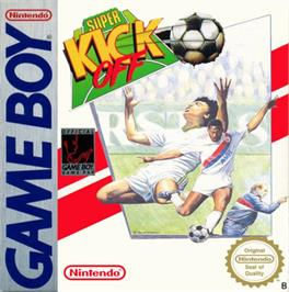 Box cover for Super Kick Off on the Nintendo Game Boy.