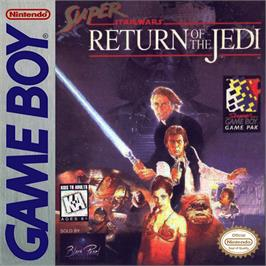 Box cover for Super Star Wars: Return of the Jedi on the Nintendo Game Boy.