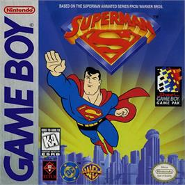 Box cover for Superman on the Nintendo Game Boy.