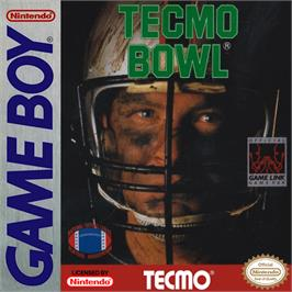 Box cover for Tecmo Bowl on the Nintendo Game Boy.
