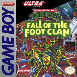 Box cover for Teenage Mutant Ninja Turtles:  Fall of the Foot Clan on the Nintendo Game Boy.
