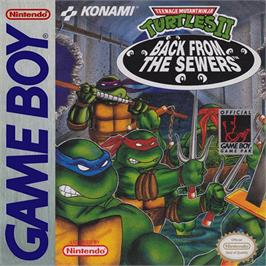 Box cover for Teenage Mutant Ninja Turtles II:  Back from the Sewers on the Nintendo Game Boy.