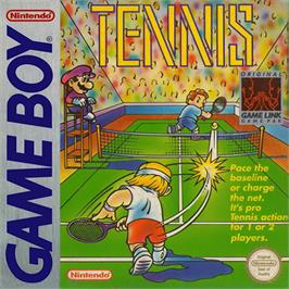 Box cover for Tennis on the Nintendo Game Boy.