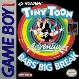 Box cover for Tiny Toon Adventures: Babs' Big Break on the Nintendo Game Boy.