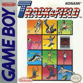 Box cover for Track & Field on the Nintendo Game Boy.