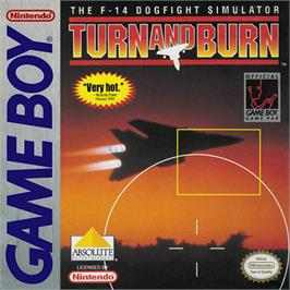Box cover for Turn & Burn on the Nintendo Game Boy.