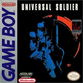 Box cover for Universal Soldier on the Nintendo Game Boy.