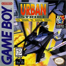 Box cover for Urban Strike on the Nintendo Game Boy.