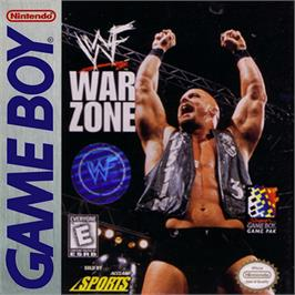 Box cover for WWF War Zone on the Nintendo Game Boy.