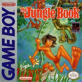 Box cover for Walt Disney's The Jungle Book on the Nintendo Game Boy.