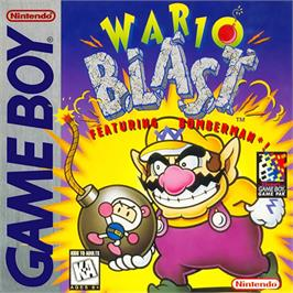 Box cover for Wario Blast Featuring Bomberman on the Nintendo Game Boy.