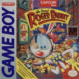 Box cover for Who Framed Roger Rabbit on the Nintendo Game Boy.