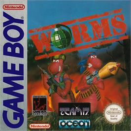 Box cover for Worms on the Nintendo Game Boy.