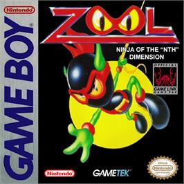 Box cover for Zool on the Nintendo Game Boy.