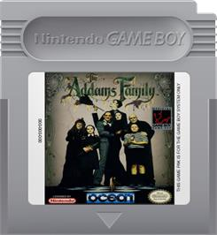 Cartridge artwork for Addams Family, The on the Nintendo Game Boy.