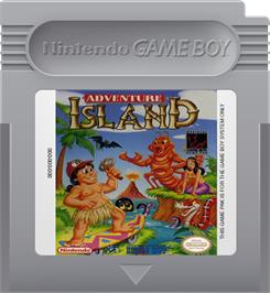 Cartridge artwork for Adventure Island on the Nintendo Game Boy.