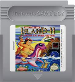 Cartridge artwork for Adventure Island II - Aliens in Paradise on the Nintendo Game Boy.