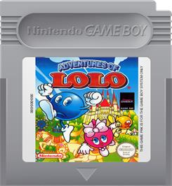 Cartridge artwork for Adventures of Lolo, The on the Nintendo Game Boy.