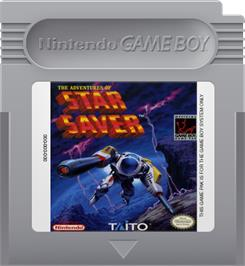 Cartridge artwork for Adventures of Star Saver on the Nintendo Game Boy.