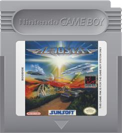 Cartridge artwork for Aerostar on the Nintendo Game Boy.