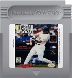 Cartridge artwork for All-Star Baseball '99 on the Nintendo Game Boy.