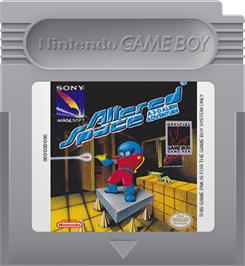 Cartridge artwork for Altered Space: A 3-D Alien Adventure on the Nintendo Game Boy.
