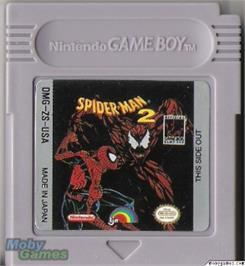 Cartridge artwork for Amazing Spider-Man 2 on the Nintendo Game Boy.