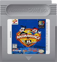 Cartridge artwork for Animaniacs on the Nintendo Game Boy.