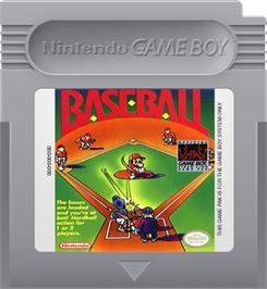 Cartridge artwork for Baseball on the Nintendo Game Boy.