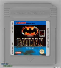 Cartridge artwork for Batman: The Animated Series on the Nintendo Game Boy.