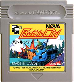 Cartridge artwork for Battle City on the Nintendo Game Boy.