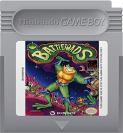 Cartridge artwork for Battletoads on the Nintendo Game Boy.