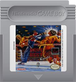 Cartridge artwork for Best of the Best Championship Karate on the Nintendo Game Boy.