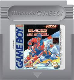 Cartridge artwork for Blades of Steel on the Nintendo Game Boy.