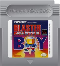 Cartridge artwork for Blaster Master Boy on the Nintendo Game Boy.