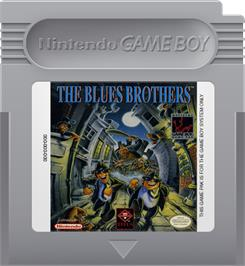 Cartridge artwork for Blues Brothers on the Nintendo Game Boy.