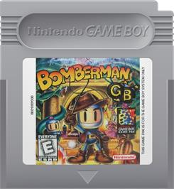 Cartridge artwork for Bomberman GB on the Nintendo Game Boy.