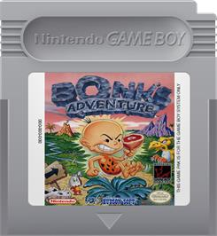 Cartridge artwork for Bonk's Adventure on the Nintendo Game Boy.