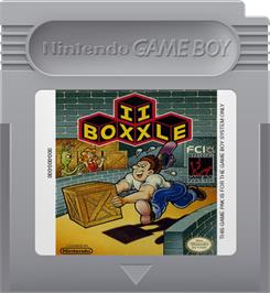 Cartridge artwork for Boxxle II on the Nintendo Game Boy.