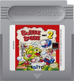 Cartridge artwork for Bubble Bobble Part 2 on the Nintendo Game Boy.