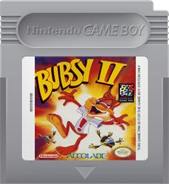 Cartridge artwork for Bubsy 2 on the Nintendo Game Boy.