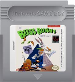 Cartridge artwork for Bugs Bunny: Crazy Castle on the Nintendo Game Boy.