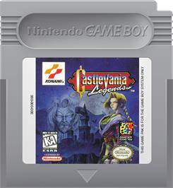 Cartridge artwork for Castlevania: Legends on the Nintendo Game Boy.